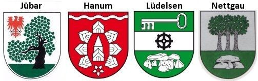 Ortsteilewappen der Gemeinde Jübar