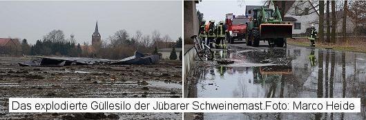 Gülle-Unfall in Jübar