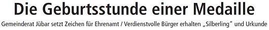 20130408 Altmark Zeitung - Jübar - Ehrenmedaille
