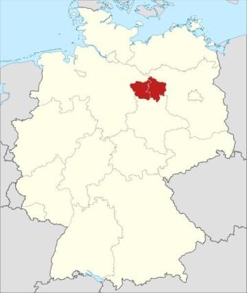 Lage der Altmark in Deutschland