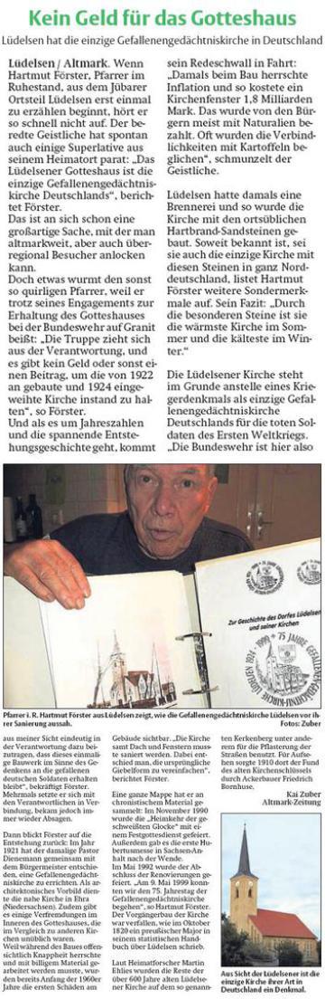 20150107 Findling - Lüdelsen - Gefallenengedächtniskirche -