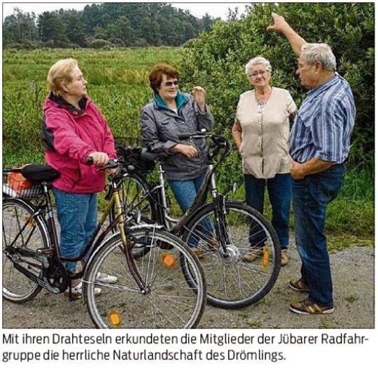 20150912 Volksstimme - Jübar - Radfahrgruppe