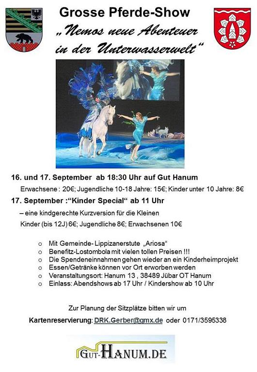 - Gut Hanum - Große Pferdeshow 16./17. September - Werbung
