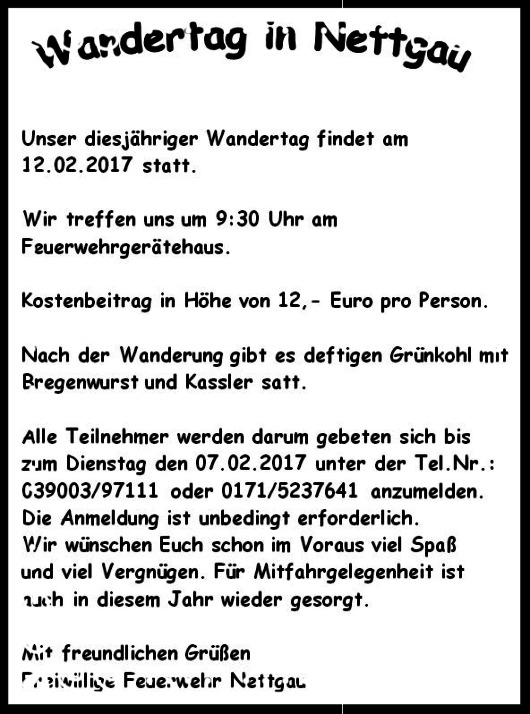 - Nettgau - Winterwanderung am 12.02.2017 -