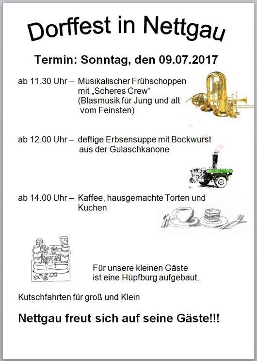 - Nettgau - Dorffest am 09. Juli 2017 -