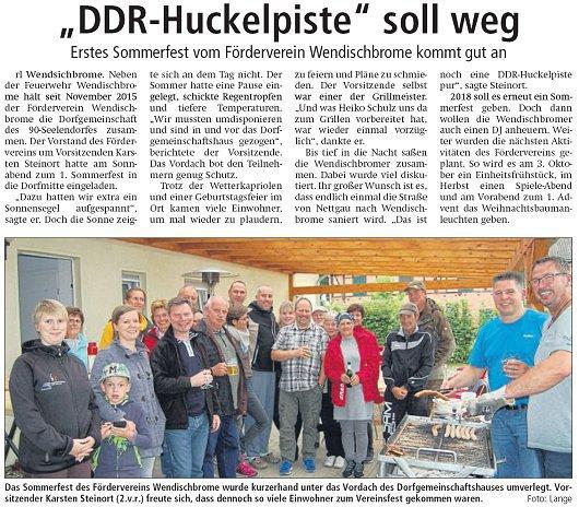 20170814 Altmark Zeitung - Wendischbrome - Sommerfest (von Rüdiger Lange)