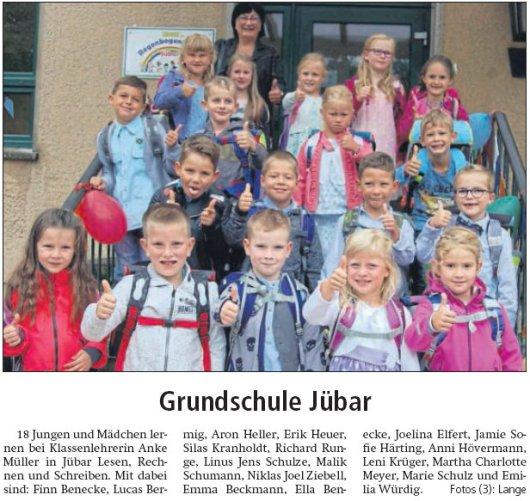 20170815 Altmark Zeitung - Jübar - Grundschule Einschulung