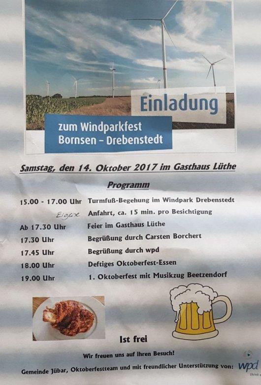 20171014 Windparkfest Einladung