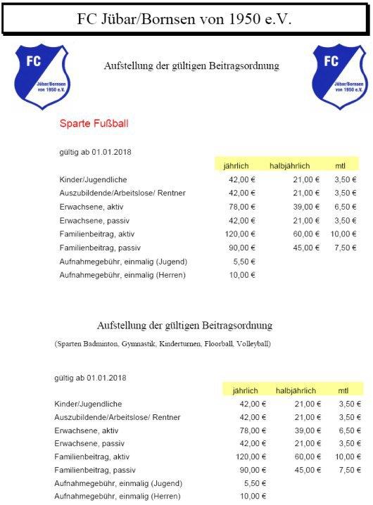 20180401 Jübar-Bornsen - Mitgliederbeiträge 2018 des FCJB