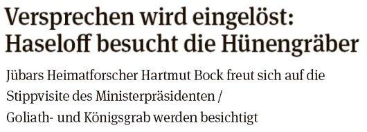 20180728 - Drebenstedt - Ministerpräsident am Großsteingrab - (Volksstimme von Walter Mogh)