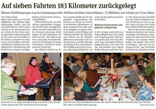 20181210 Volksstimme - Jübar - 183km auf dem Fahrrad (von Walter Mogk)