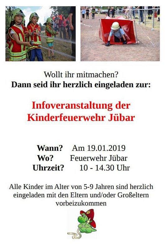 20181230 Gemeinde Jübar - Kinderfeuerwehr - Infoveranstaltung 20190119