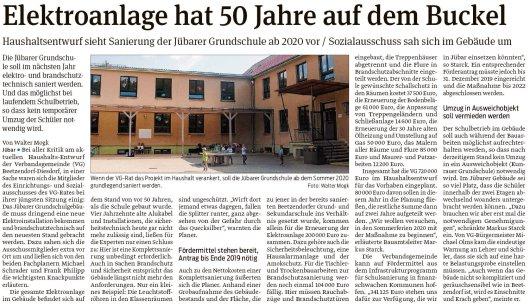 20190126 Volksstimme - Jübar - Sanierung der Jübarer Grundschule (von Walter Mogk)