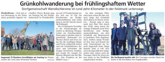 20190226 Altmark Zeitung - Wendischbrome - Grünkohlwanderung (von Bock)