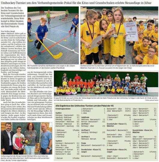 20190228 Volksstimme - Jübar - Floorball der Grundschul- und Kitakinder in der Kahnberg-Halle (von Walter Mogk)