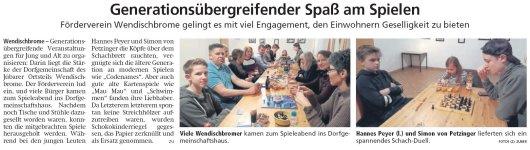 20190313 Altmark Zeitung - Wendischbrome - Generationsübergreifender Spaß am Spielen (von Kai Zuber)