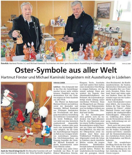 20190415 Altmark Zeitung - Lüdelsen - Oster-Symbole aus aller Welt (von Kai Zuber)