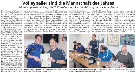 20190416 Altmark Zeitung - Jübar - FCJB-Jahreshauptversammlung (von Kai Zuber)