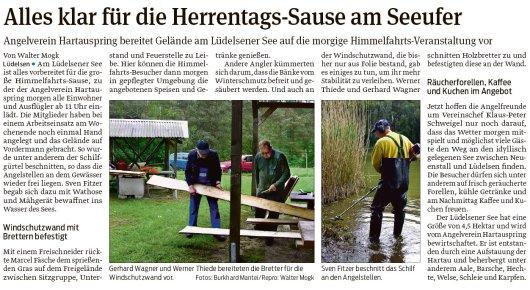 20190529 Volksstimme - Lüdelsen - Angelverein Hartauspring morgen am Lüdelsener See (Walter Mogk)