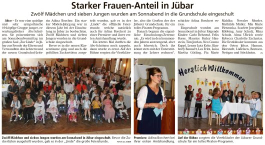 20190819 Altmark Zeitung - Jübar - Einschulung 2019 (Kai Zuber)