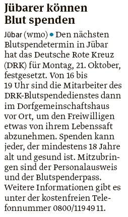 20190911 Volksstimme - Jübar - Blutspende (Walter Mogk)