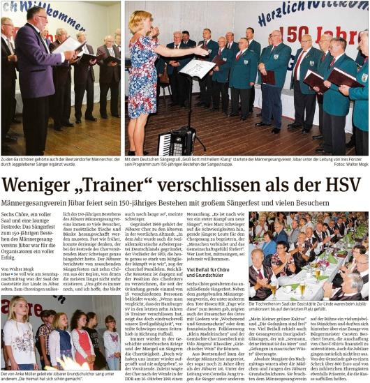 20190917 Volksstimme - Jübar - MGV-Sängerfest zum 150-jähriges Bestehen (Walter Mogk)