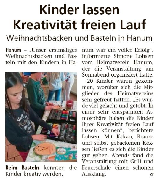 20191204 Altmark Zeitung - Hanum - Heimatverein ist auch für Kinder da (Christian Reuter)