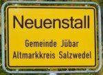 Ortschild Splittersiedlung Neuenstall