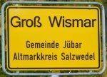 Ortschild Splittersiedlung Groß Wismar