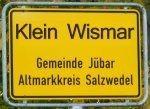 Ortschild Splittersiedlung Klein Wismar