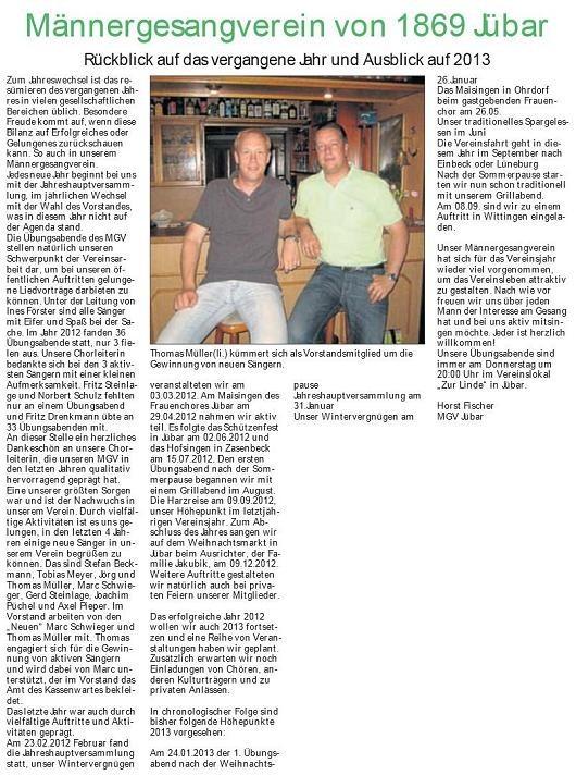 20130306 Findling - Jübar - Männergesangverein