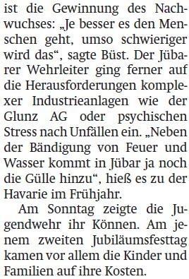 20130611 Altmark Zeitung - Jübar - 85. Wehrgeburtstag