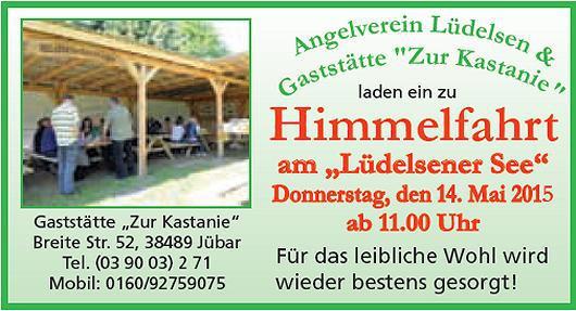 - Lüdelsener See - Himmelfahrt mit dem Angelverein Lüdelsen -