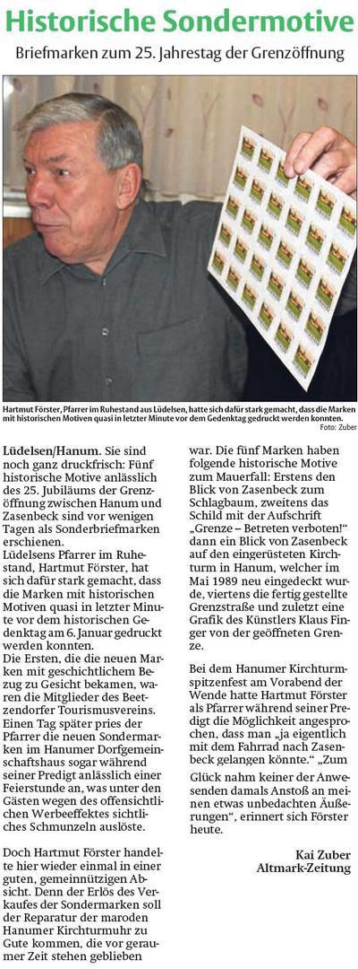 Krippenmuseum 20150204 Historische Sondermotive - Briefmarken zum 25. Jahrestag der Grenzöffnung -