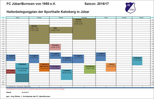 20170330 - Jübar - Kahnberghalle - Belegungsplan 2017