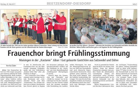 20170528 Maisingen in der Kastanie - Altmark Zeitung vom 20170529