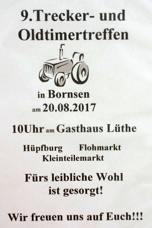 20170820 Bornsen - 9. Trecker- und Oldtimertreffen 2017 -