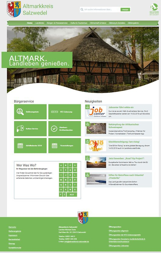 Altmarkkreis Salzwedel Homepage