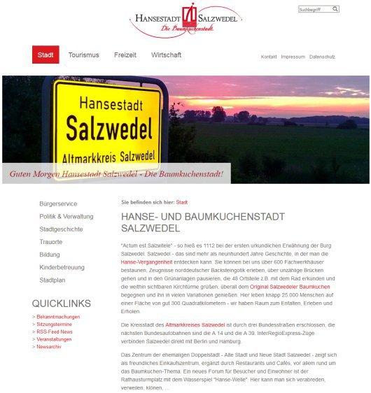 Kreisstadt Salzwedel Homepage