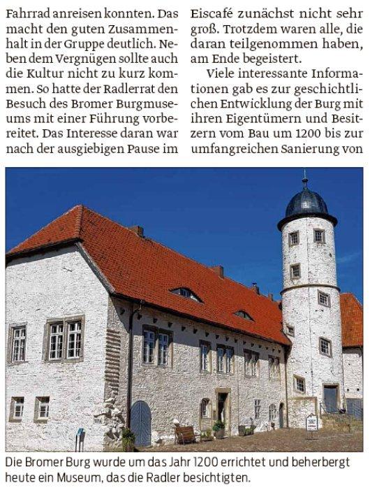 20180910 Volksstimme - Jübar - Tour nach Brome von Gudrun Spohn und Walter Mogk
