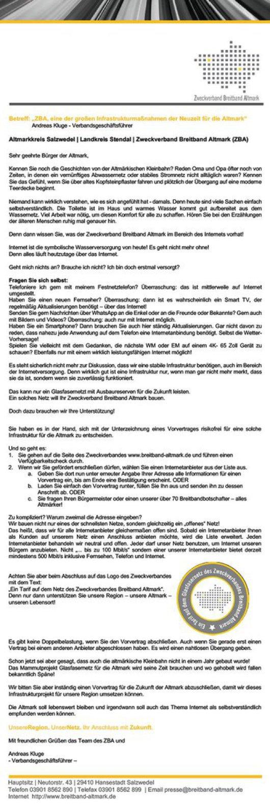 20181220 ZBA zum Jahreswechsel - Neuzeit für die Altmark
