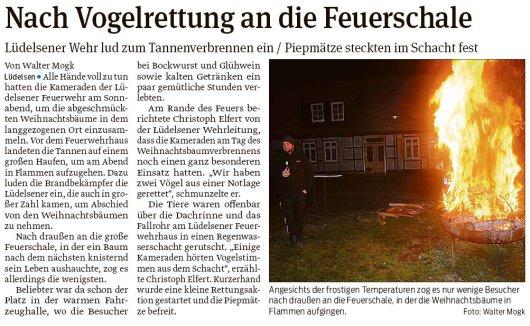 20190123 Volksstimme - Lüdelsen - Wehr lud zum Tannenverbrennen ein (von Walter Mogk)
