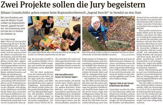 20190225 Volksstimme - Jübar - Zwei Projekte sollen die Jury begeistern (von Walter Mogk)
