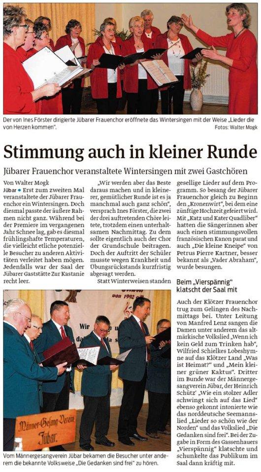 20190307 Volksstimme - Jübar - Frauenchor - Wintersingen mit zwei Gastchören (von Walter Mogk)