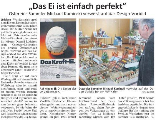 20190426 Altmark Zeitung - Lüdelsen - Ostereiersammlung von Michael Kaminski ausgestellt (Kai Zuber)