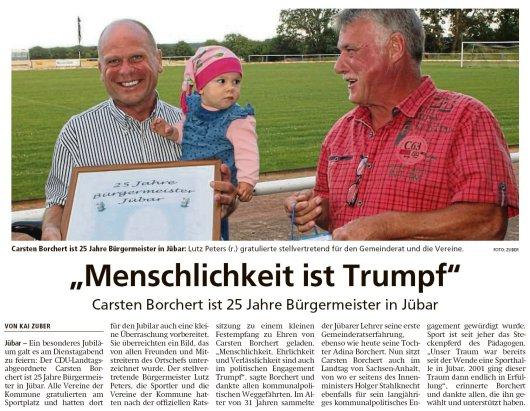 20190706 Altmark Zeitung - Gemeinde Jübar - Carsten Borchert ist 25 Jahre Bürgermeister in Jübar (Kai Zuber)