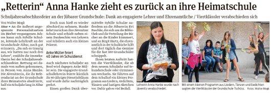 20190708 Volksstimme - Jübar - Schuljahresabschlussfeier an der Jübarer Grundschule (Walter Mogk)