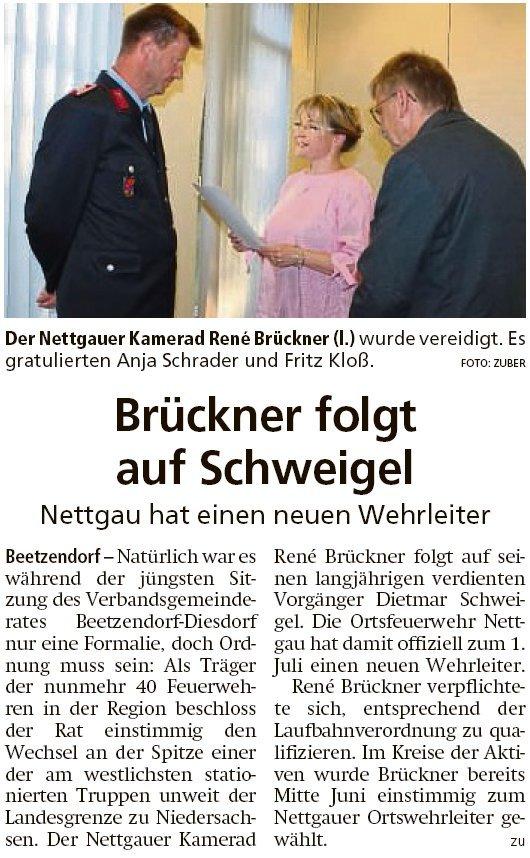 20190809 Altmark Zeitung - Nettgau - FFW-Chef René Brückner vereidigt (Kai Zuber)