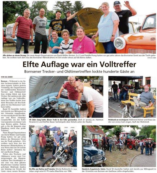 20190819 Altmark Zeitung - Bornsen - Trecker- und Oldtimertreffen (Kai Zuber)