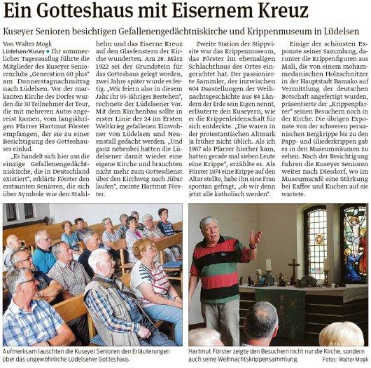20190720 Volksstimme - Lüdelsen - Kuseyer Senioren im Krippenmuseum (Walter Mogk)